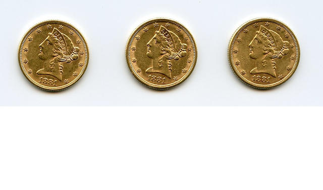 1881 $5 (3)