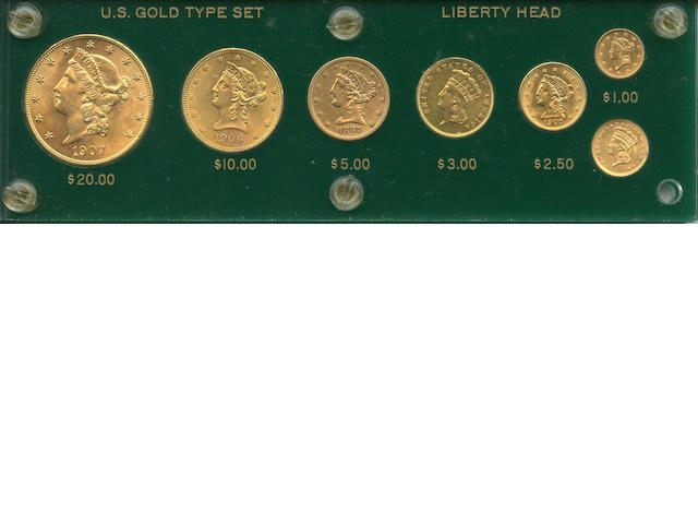 Seven Piece Liberty Gold Type Collection