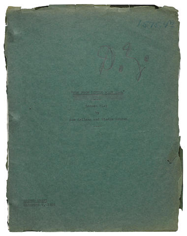 Darryl F. Zanuck's profusely annotated copy of the screenplay of Poor Little Rich Girl