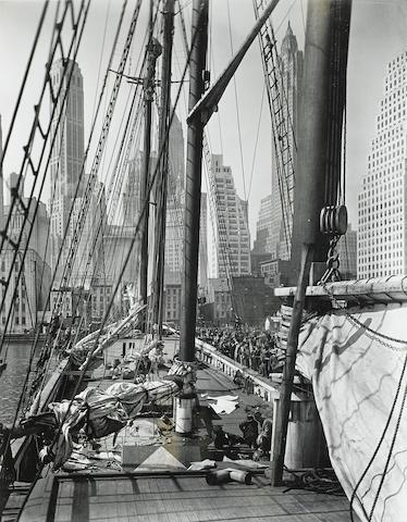Berenice Abbott (1898-1991); Theoline, Pier 11, East River, NY;