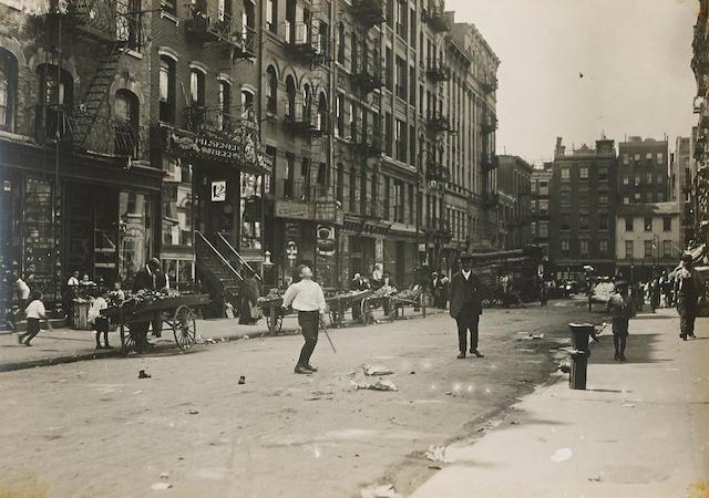 Lewis Wickes Hine (1874-1940); Street Play, New York City;