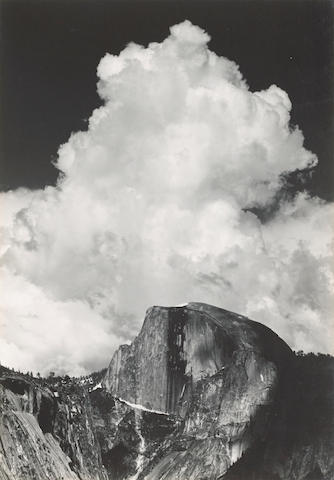 Ansel Adams (1902-1984); Half Dome, Thunder Cloud, Yosemite Valley;