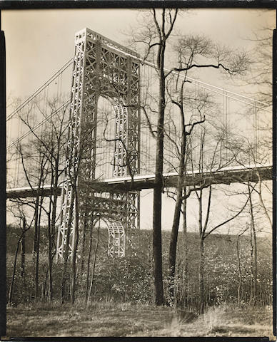 Berenice Abbott (1898-1991); George Washington Bridge, Riverside Drive and 179th Street, Manhattan;