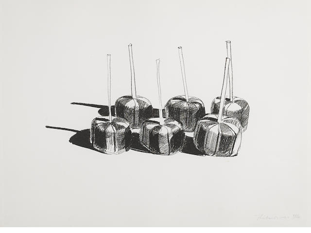 Wayne Thiebaud (born 1920); Suckers, State I;