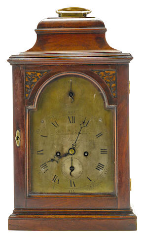 A George III mahogany bracket clock  Edward Howard, London third quarter 18th century