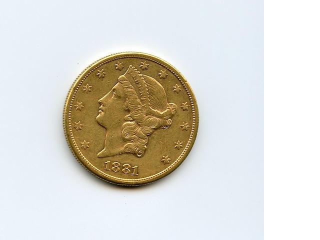 1881-S $20