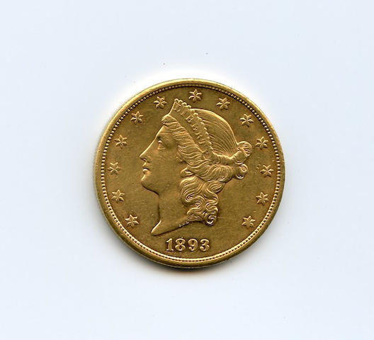 1893-S $20