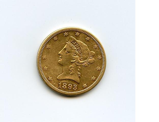 1893-S $10