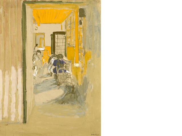 EDOUARD VUILLARD (1868-1940) La salle d'étude aux Pavillons 23 x 17 1/2in. (58.4 x 44.5cm)