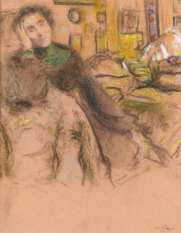 EDOUARD VUILLARD (1868-1940) Madame Juliette Weil, troisième étude 12 5/8 x 9 5/8in. (32.1 x 24.2cm)