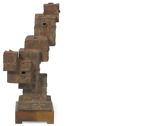Jacques Schnier (1898-1988) The Fortress, 1961 20 1/4 x 14 1/2 x 7in. (51.4 x 36.8 x 17.8cm)