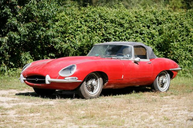 Just discovered in 40 year storage, 24,000 miles from new,1967 Jaguar XKE Series 1 Open Two-Seater  Chassis no. 1E13205 Engine no. 7E9476-9