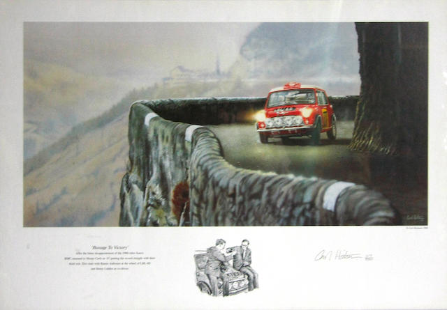 A 'Passage To Victory' print by Carl Hatern,