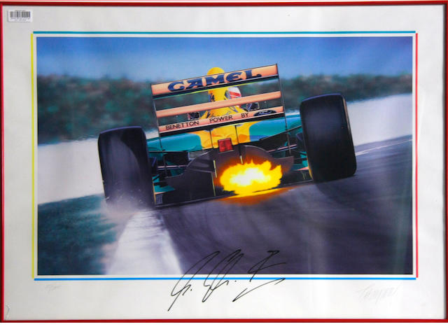 Two Michael Schumacher F1 posters,