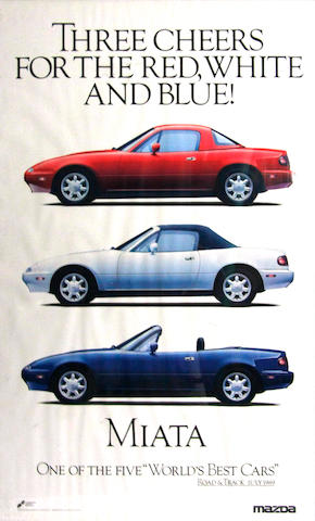 A grouping of Japanese marque car posters,