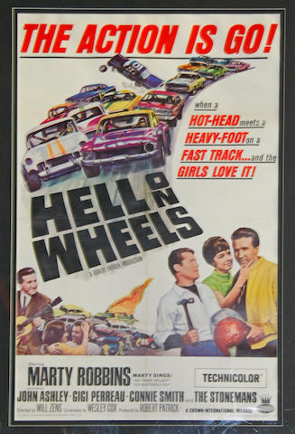 A 'Hell On Wheels' movie poster, c.1967,