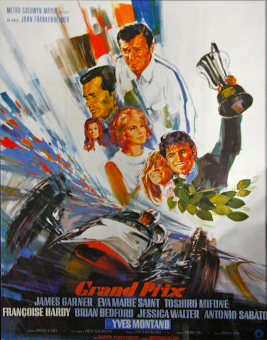 A large, French 'Grand Prix' movie poster, c.1967,