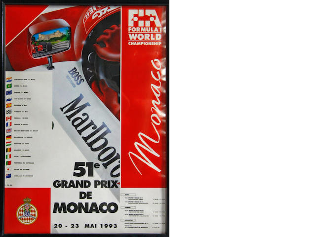 A lot of three, 1990's Grand Prix posters,