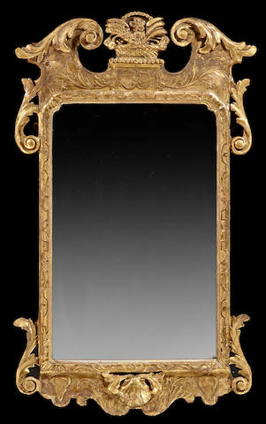 A George II giltwood mirror second quarter 18th century