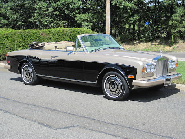1988 Rolls-Royce Corniche Convertible  Chassis no. SCAZD02A8JCX23572