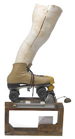 George Herms (born 1935) Cheap Skate, 1981 30 x 15 5/8 x 6 1/8in. (76.2 x 39.7 x 15.6cm)