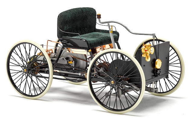 A 1:6 scale model of a 1896 Ford Quadra cycle By Franklin mint,
