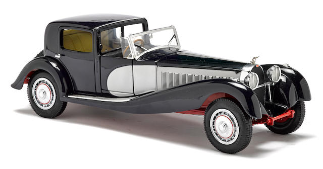 A 1:6 scale model of a 1931 Bugatti Royale Coupe Deville By Franklin mint,