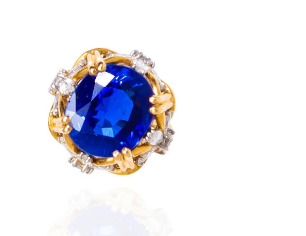 A sapphire and diamond ring, Jean Schlumberger, Tiffany & Co.