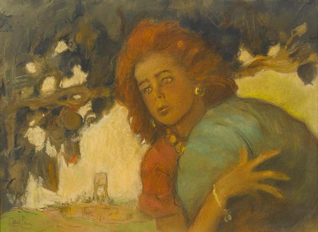 ABEL PANN (Israeli, 1883-1963) Hagarsigned (lower left)