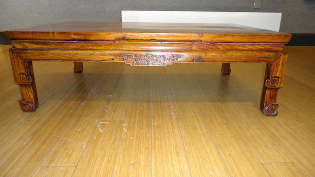 A huanghuali and mixed wood kang table 18th century