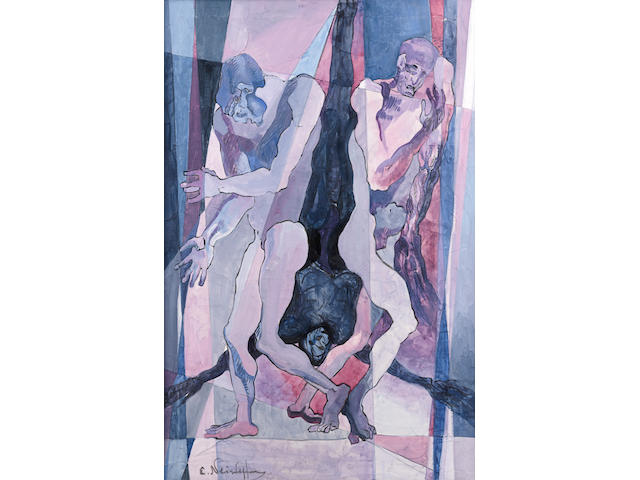 Ernst Neizvestnyi (Russian, born 1926) Composition with three figures
