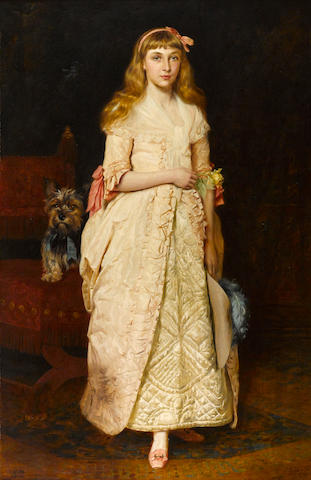 James Archer (British, 1823-1904) A portrait of Miss Rose Fenwick as a child 69 x 44 1/2in (175.5 x 113cm)