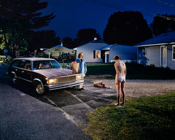 Gregory Crewdson (born 1962); Untitled (Penitent Girl), from Twilight Series;