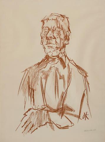 Oskar Kokoschka (1886-1980); Selbstbildnis;