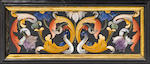 An important Italian Baroque relief pietra dura and gilt bronze mounted ebony jewel casket  Grand Ducal Workshops, Florence early 18th century