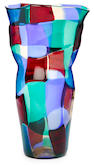 A Fulvio Bianconi for Venini Pezzato glass vase designed 1950-1951