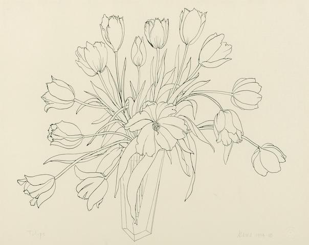 Ruth Asawa (1926-2013) Tulips, 1994 10 1/4 x 13in. (26 x 33cm)