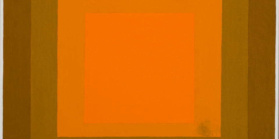 "JOSEF ALBERS (1888-1976) Study for Hommage to the Square ""Fall Finale"", 1963"