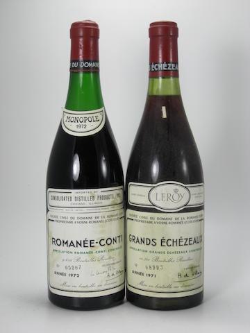 Romanée-Conti 1972 (1)  Grands-Échézeaux 1971 (1)