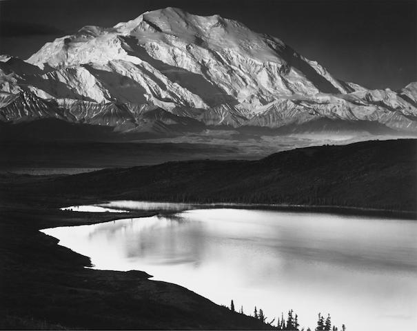 Ansel Adams (1902-1984); Mount McKinley and Wonder Lake, Denali National Park, Alaska;