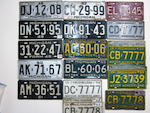 A collection of Michigan licence plates, 1921-1962,
