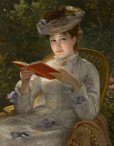 English School, 19th Century A summer beauty 36 x 28in (91.4 x 71.1cm)