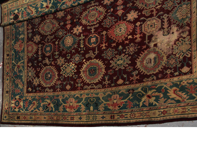 A Turkish carpet  size approximately 13ft. x 13ft.