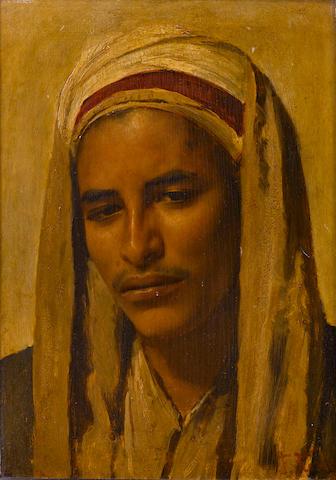 Franz Xavier Kosler (Austrian, 1864-1905) A young Arab 14 1/4 x 10 1/4in (36.2 x 26cm)