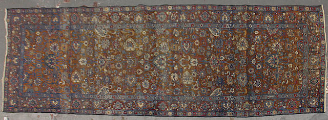 A Kerman runner size approximately 4ft. 7in. x 14ft.