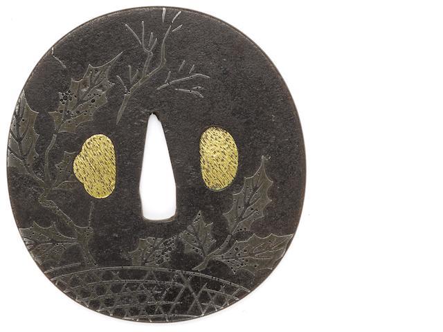 A Kunitomo tsuba By Teiei Kunitomo, Edo period (18th century)