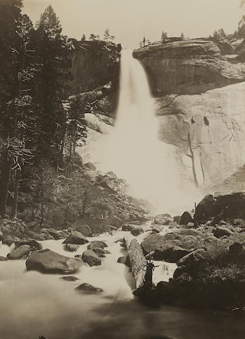 Carleton E. Watkins (1829-1916); Nevada Fall, 700 Ft., Yosemite;