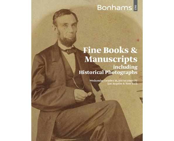 Fine Books and Manuscripts including Historical Photographs