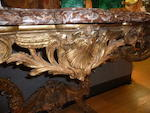 A Regence style giltwood console d'applique<BR />after a model by Jules Degoullons (French, circa 1671-1737)<BR />second half 19th century