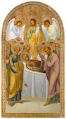 A large Russian church icon: Dormition of the Mother of God  late 19th century